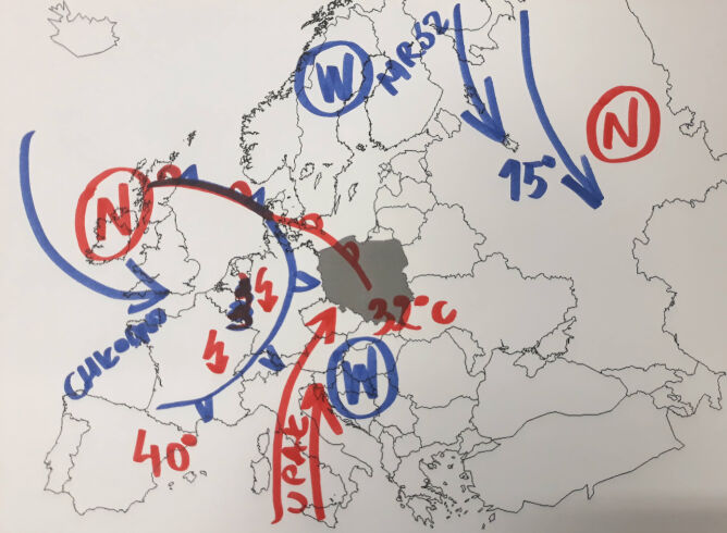 Sytuacja meteorologiczna w Europie