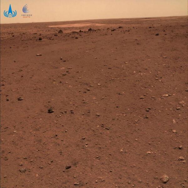Powierzchnia Marsa (PAP/EPA/China National Space Administrat)