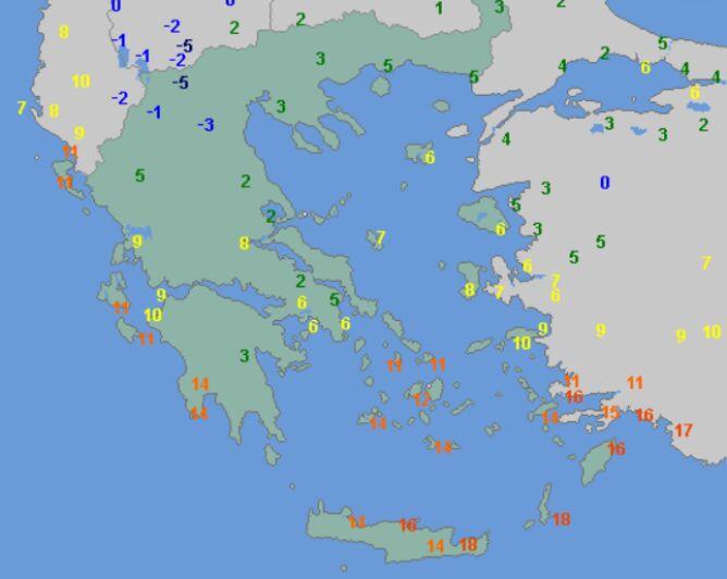 Temperatura maksymalna w Grecji w sobotę (wetteronline.de)