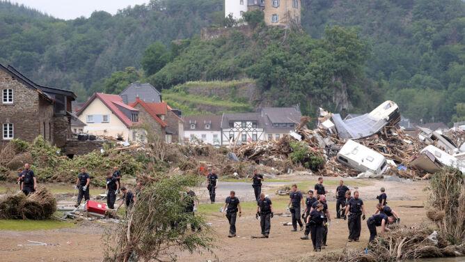 Niemcy: na terenach powodziowych może gwałtownie wzrosnąć liczba przypadków COVID-19