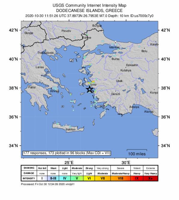 Trzęsienie ziemi było odczuwalne w Turcji i Grecji (USGS)