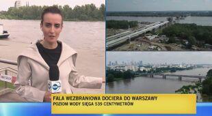 Fala wezbraniowa dociera do Warszawy