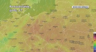 Prognozowana temperatura w ciągu kolejnych dni (Ventusky)