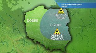 Warunki drogowe w poniedziałek 27.01